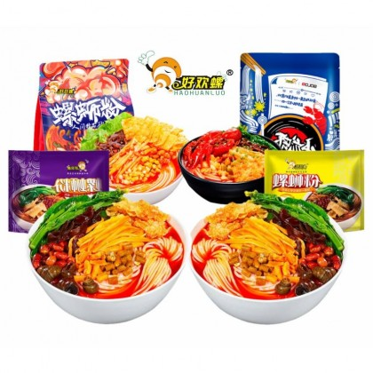 Hao Huan Luo River Snail Noodles 好欢螺 螺蛳粉 加臭加辣版螺蛳粉 小龙虾味螺蛳粉