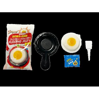 JAYER PUDDING JELLY+POP CANDY 荷包蛋形 布町果冻 跳跳糖 Weight: 20g